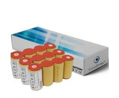 Lot de 3 batteries pour Karcher k50 4.8V 2000mAh Balai électrique - Visiodirect - - Chargeurs, batteries et socles