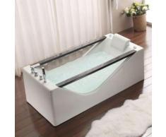 Paris prix - baignoire balnéo rectangulaire 'milos' 170cm blanc - Installations salles de bain