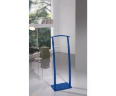 Valet de Nuit Bleu en hêtre massif sur socle rectangulaire, 28 x 40 x 117 cm -PEGANE- - Objet à poser