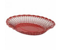 Corbeille pain vintage ovale rouge roger orfevre 728136 - platerie, service