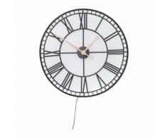 Horloge murale Factory LED 80cm Kare Design - Décoration murale