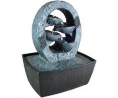 Zen'light cascade fontaine d'intérieur charbon et noir 20 x 15 x 26 cm - Accessoires de rangement