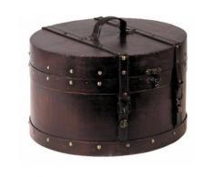 Aubry Gaspard - Boite en bois et simili cuir - Boite de rangement