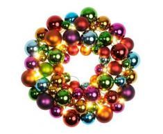 star 700-01 couronne de boules led illuminée plastique/métal multicolore 28 x 24 cm - Appliques et spots
