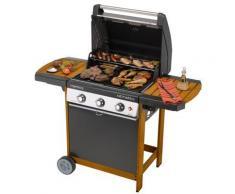 Barbecue Othello Woody 3 L - Barbecue à gaz 10/12 personnes - Grillade et barbecue