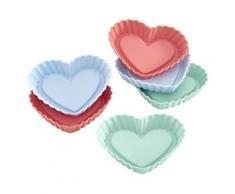 Lurch 83017 coeur moule à tarte silicone noir 23 x 12 x 2 cm 6 pièces - Ustensiles