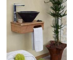 Meuble sous-vasque suspendu en teck pour lave-mains, lazzeri - Meubles de salle de bain