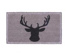 Gibier Paillasson Essuie-Pieds - Deer Head (40x70 cm) - Tapis et paillasson