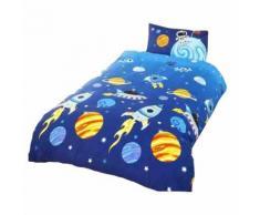Parure de lit simple à motif fusée - Enfant (Lit simple) (Multicolore) - UTSG6973 - Linge de lit