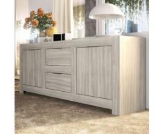 Nouvomeuble - Enfilade contemporaine couleur chêne gris sofia - Buffets
