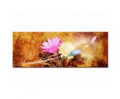 Tableau toile fleurs vent de fraîcheur - Décoration murale