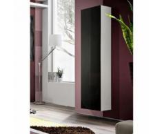 Paris prix - vitrine murale design 'fly i' 170cm noir & blanc - Vaisseliers