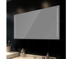 Miroir avec éclairage pour salle de bain 100 X 60 cm - Miroir