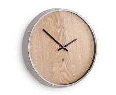 Horloge murale en bois contour métal sans chiffre D.31.8cm MADERA - Décoration murale