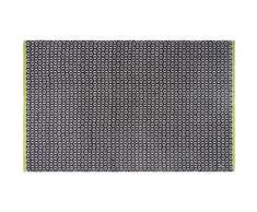 Tapis intérieur extérieur Vernon noir 150 x 90 cm - Tapis et paillasson