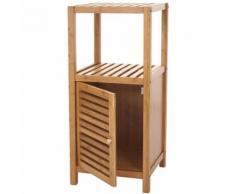Étagère de salle de bains HWC-B18, Armoire, Commode, Bambou ~ 80x36x34cm - Meubles de salle de bain