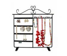 Porte bijoux cadre porte bijoux dressing boucle d'oreille et collier Noir - Objet à poser