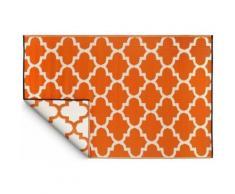 Fabhabitat - Tapis intérieur extérieur Tangier orange et blanc 180 x 120 cm - Tapis et paillasson