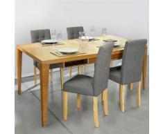 Lot de 4 chaises scandinaves capitonnées grises pour salle à manger - Chaise