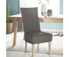 Housse de chaise unie courte 100% coton bachette épaisse ISA - Textile séjour