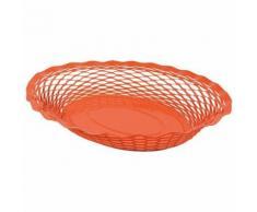 Corbeille pain vintage ovale orange roger orfevre 721136 - platerie, service