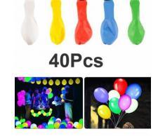 40pcs ballon lumière lumineuse couleur lueur flash lampe de noël fête d'halloween mariage décoration - Objet à poser