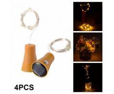4pcs Guirlande 10 LED Lumières de Barre de Forme du Liège de Bouteille de Vin pour Décoration Noël LD1027 - Objet à poser