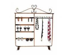 Porte bijoux cadre porte bijoux dressing boucle d'oreille et collier Cuivre - Objet à poser