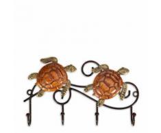 Tooarts Crochet mural Iron Wall Cintre Vintage Design avec 4 Crochets Manteaux Keys Sacs Cintre Mur Monté Idée Cadeau Décoratif - Objet à poser