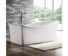 Baignoire ilot rectangulaire - acrylique blanc - 170x80 cm - sidney - Installations salles de bain