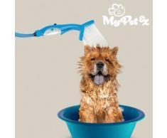Pommeau de douche-brosse pour animaux de compagnie - Massage à Main Douche Intérieure et Extérieure - Accessoires salles de bain et WC