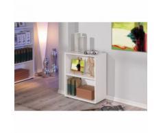 Petite étagère bibliothèque rayonnage meuble de salle de bain ou de bureau BLANC - Étagère