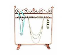Porte bijoux porte bijoux cadre dressing bracelet collier et accessoire Cuivre - Objet à poser