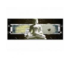 Tableau toile zen décoration STATUE BOUDDHA - Décoration murale