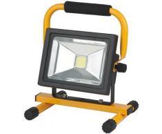 Brennenstuhl 1171260202 ml ca 110 projecteur à puce led ip54 alimentation 2 batteries ou bloc dalimentation 20 w 1300 lm - Eclairage extérieur