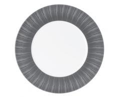 Table Passion - Plat Presentation 31 Cm Porcelaine Decor Madras Gris - vaisselle