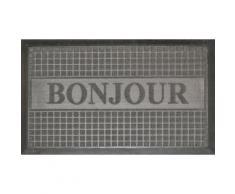 tapis d'entrée 45x75 cm antidérapant bonjour - Linge de lit