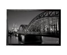 Cologne Paillasson Essuie-Pieds - Pont Du Rhin Et Cathédrale De Cologne La Nuit N/B (60x40 cm) - Tapis et paillasson