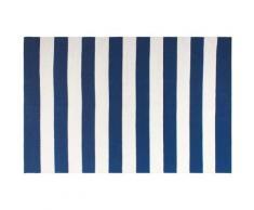 Tapis intérieur extérieur Nantucket bleu et blanc 150 x 90 cm - Tapis et paillasson