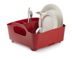 Umbra - Egouttoir à vaisselle avec poignées de transport Rouge - Ustensiles