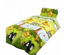Parure de lit à motif jungle - Enfant (Lit simple) (Multicolore) - UTSG6977 - Linge de lit
