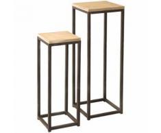 Duo de sellettes - LORY - L 32 x l 32 x H 93 - Tables d'appoint