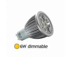 Spot Led dimmable 6W (60W) GU10 Blanc chaud 2700 - Équipements électriques pour luminaire