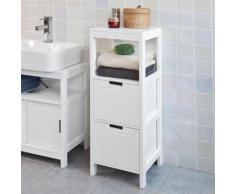 SoBuy® Meuble Colonne Meuble Bas de Salle de Bain Armoire toilette,FRG127-W FR - Meubles de salle de bain
