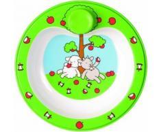 emsa 509089 farm family assiette chauffante avec cuillère 23 cm - vaisselle