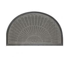 tapis d'entrée 45x75 cm antidérapant demi lune - Linge de lit