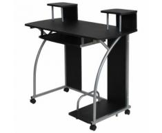 Bureau enfant table de travail meuble mobilier chambre noir - Bureaux