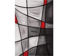 BRILLANCE Tapis de salon 160x230 cm rouge, noir et gris - Tapis et paillasson