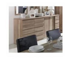 Buffet, bahut ROMI 3 portes coulissantes coloris chêne dab canyon. Meuble design idéal pour votre salle à manger - Buffets