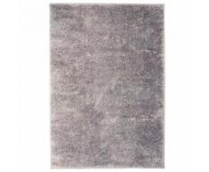 Homgeek Tapis à poils Longs pour Chambre ou Salon 80 x 150 cm Gris - Textile séjour